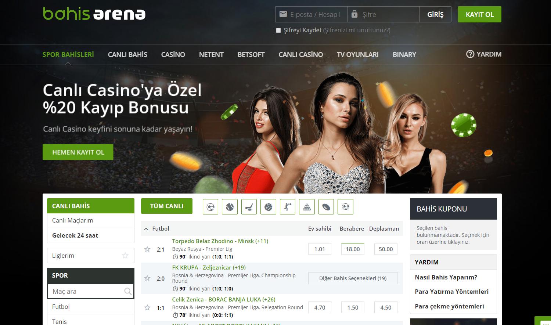Bahis Arena İlk Üyelik Bonusu