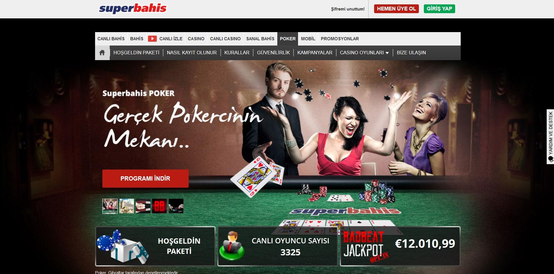 Süperbahis Canlı Bahis ve Canlı Casino